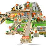 泰国博仁大学校园分布?