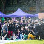 博仁大学CIBA学院的师生在学校操场开展精彩的户外派对