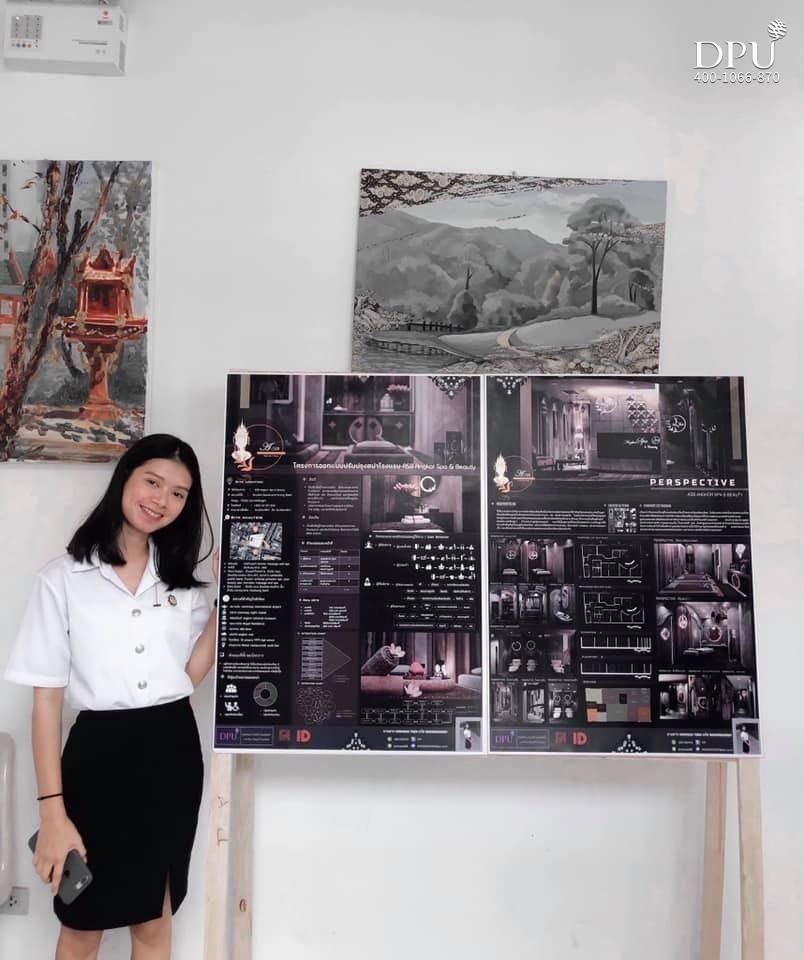博仁大学柬埔寨留学生的室内设计作品1