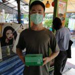 博仁大学师生协助江苏省统战部为在泰爱国人士发放健康包