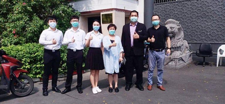 中华人民共和国驻泰使馆给博仁大学捐献抗疫物资