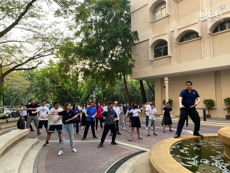 博仁大学海上丝路孔院举办杨家太极拳活动,弘扬中国武术文化!