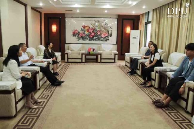博仁大学与郑州财经学院会谈