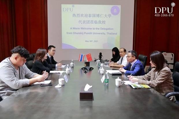 泰国博仁大学与访四川大学锦江学院双方会见