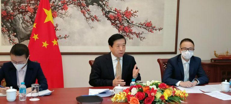 韩志强大使同泰国主流媒体线上座谈